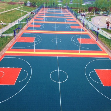Outdoor Indoor Basketball Court Tiles Flooring