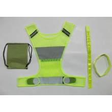 Sport Clothing High-Viz Reflective Running Vest with bands