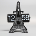 Special Eiffel Tower Flip Desk Clock