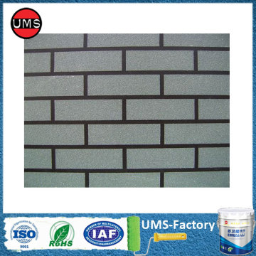 Elastomeric exterior masonry brick paint grey