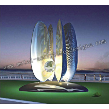 Stainless steel light sculpture-Pearl Light