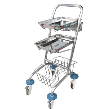 Hospital Stainless Steel Convenient  I.V. Trolley