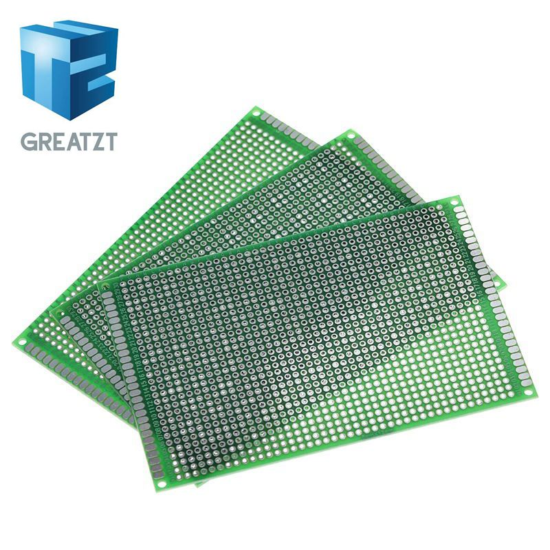 GREATZT 5pcs 8x12cm 80x120 mm Double Side Prototype PCB Universal Printed Circuit Board Protoboard For Arduino