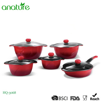 Gradual Changed Painting Die Cast Cookware Set