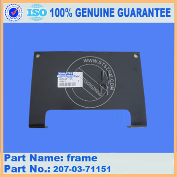 PC300-7 PC350-7 pc380lc-7k after cooler frame 207-03-71151