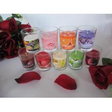 Long Burning Coloured Scented Glass Candle 3