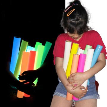 1 sheet 25cmx25cm Luminous glow in dark Heat Transfer Vinyl noctilucent Heat Press Machine Tshirt Iron On HTV for Night dance