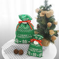 Medium Botanic Green Kraft Drawstring Gift Bags