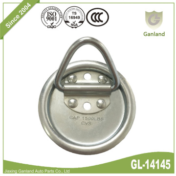 Round Pan Fitting Lashing Ring With Rubber Base