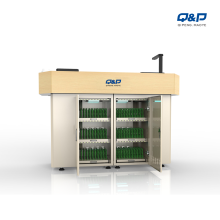 Smart tablet platform charging carts