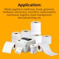 Barcode printer thermal transfer adhesive blank paper roll