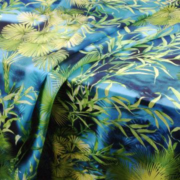 Green jungle print soft chiffon scarf cloth polyester chiffon thin fabric for dress sewing DIY patchwork clothing tissu au metre