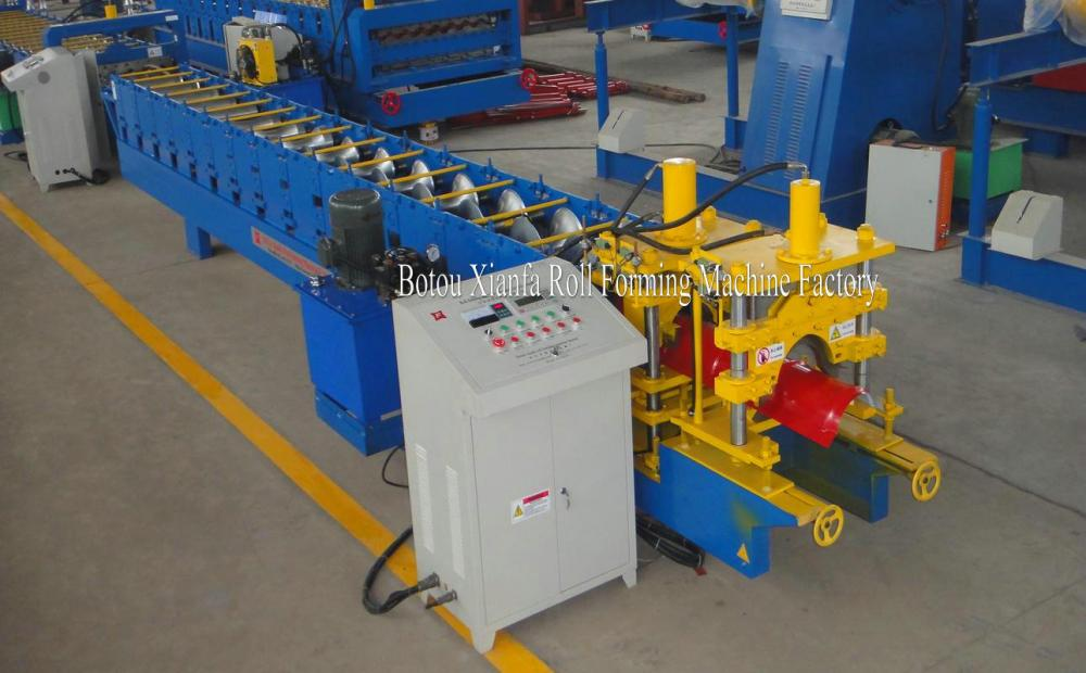 Aluminum Galvanized Glazed Tile Ridge Cap Making Machine