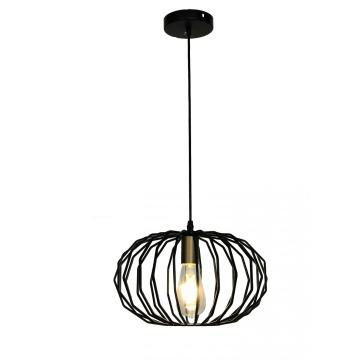Post modern retro black paint Chandelier