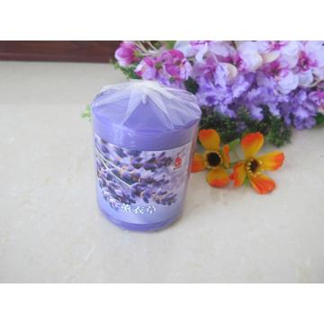 Scented Purple Colour Pillar Candle