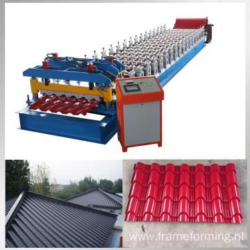 color steel step tile roll forming machine