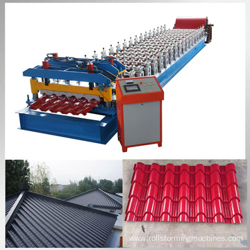 Glazed bamboo type metal tile manufacturing equipment