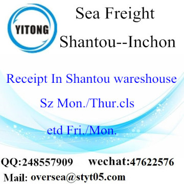 Shantou Port LCL Consolidation To Inchon