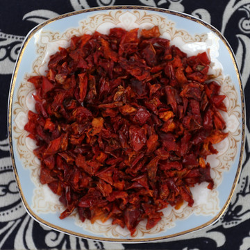Dehydrated dried bell pepper granules