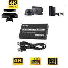 4K HDMI Game Video Capture Card 1080P Grabber Dongle Graphics Card For OBS Capturing Game Live Streaming Broadcast To USB 3.0