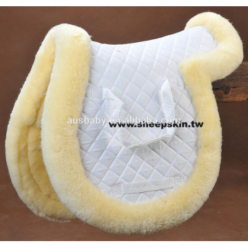 High quality lambskin saddle pad