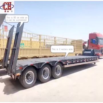 6 axles low bed  semi trailer