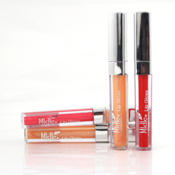 Fashion Beauty Lip Gloss With Silver Cover
