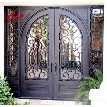 Arc Top Wrought Iron Door Double Door