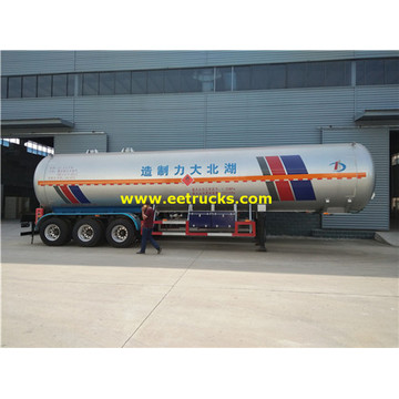58.5cbm 30MT LPG Transport Tank Trailers