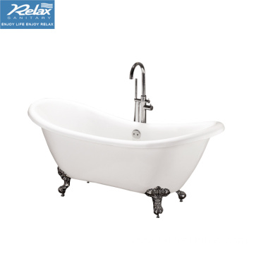 Household indoor acrylic freestanding bathtub