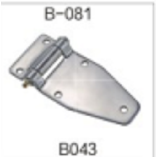 Satin Stainless Steel 4 Inch Lash Door Hinge