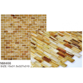 Fascinating melancholic brown frosted glass mosaic tiles