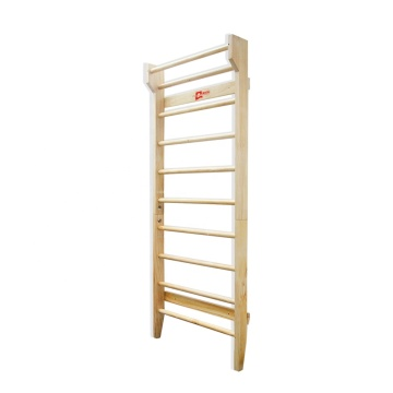 Natural Color of Wooden Fitness Swedish Ladder.
