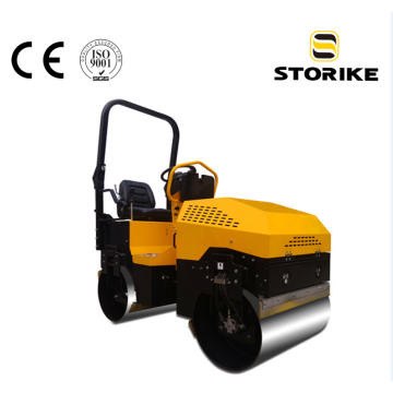 Hydraulic double drive double vibratory road roller