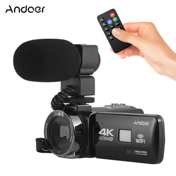 Andoer 4K Ultra HD WiFi Digital Video Camera Camcorder DV Recorder With 16X Zoom 3.0
