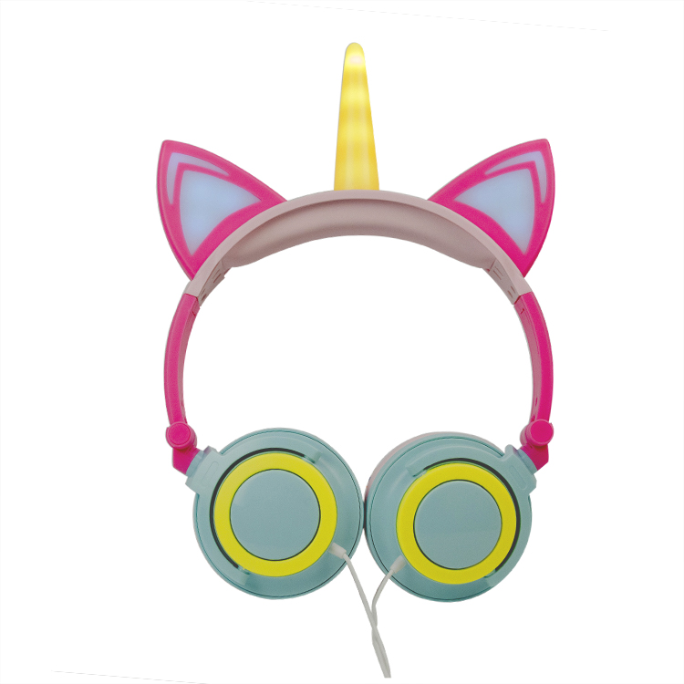 Unicorn wired headphones