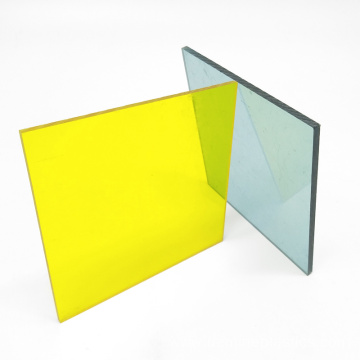 Yellow color solid polycarbonate advertising board