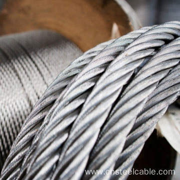 6X37+FC Dia.4mm to 12mm Galvanized steel wire rope
