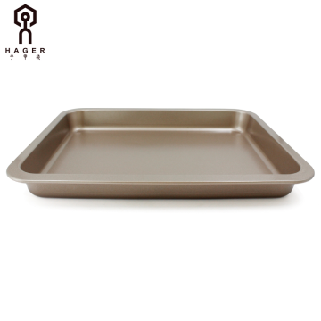 "11""Oblong shallow baking pan with wide sides"