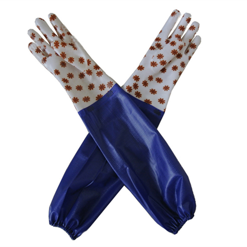 PVC Dipped Gloves with rain coated material