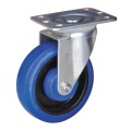 6'' plate casters rubber wheel 150kg capacity