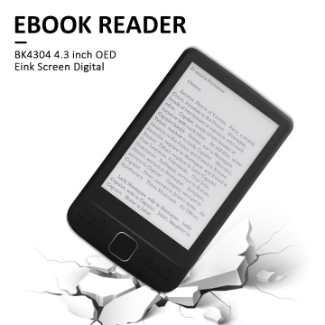 Delicate 4.3 inch E-Ink Ebook Reader 800x600 Ereader Electronic Paper Book with Front Light PU Cover Employee Benefits Gift