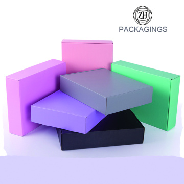 Cheap plain pure color mailing box wholesale