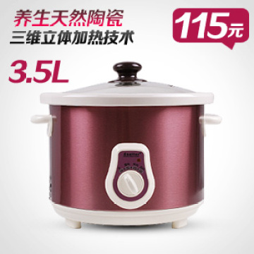 Elate ed-35d01 ceramic electric cooker 3.5l slow cooker soup conjecturing