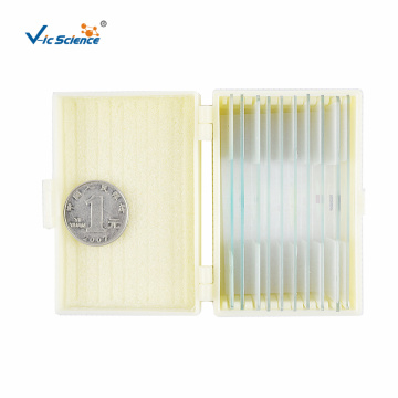 Glass Microscope Biological Slides Set