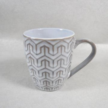 Embossed Porcelain Ceramic Coffee Mug Tea Cup