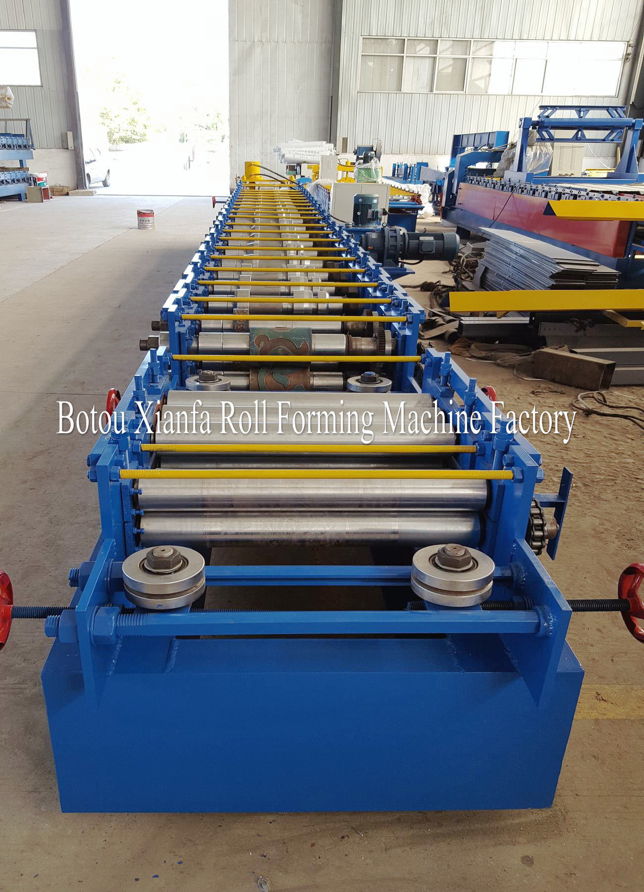 steel door machine factory