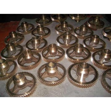 Custom-Made Kobber Gear Messing Worm Gear Og Worm