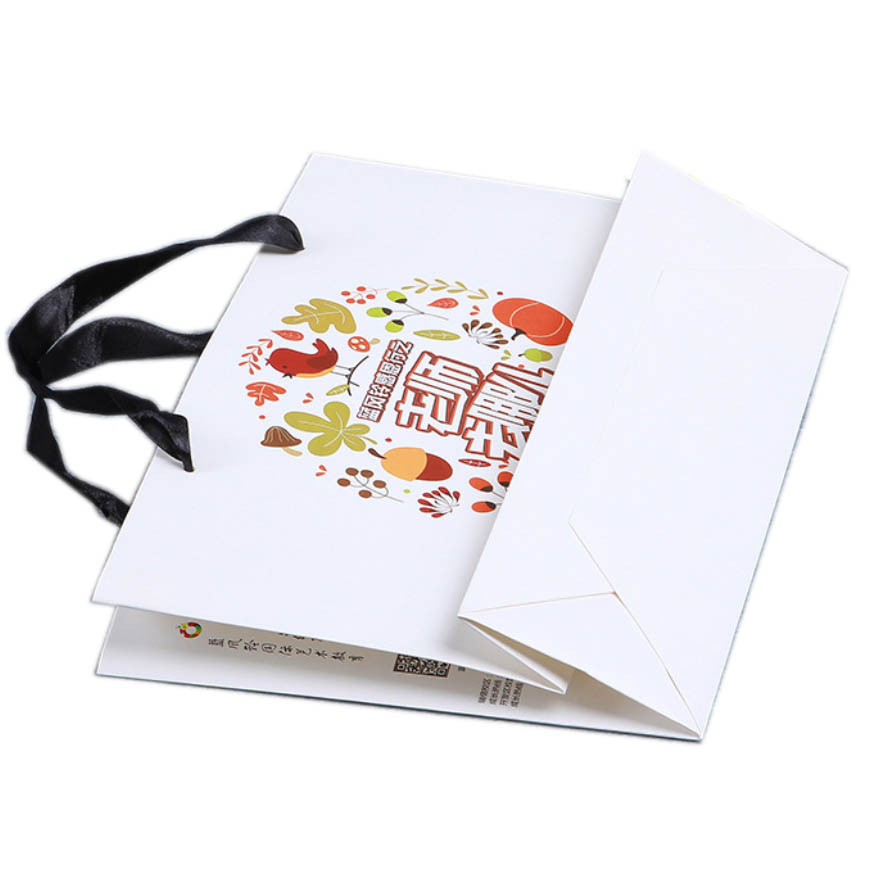 White matte paper shopping bags