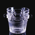 Crystal glass ice container with classical design